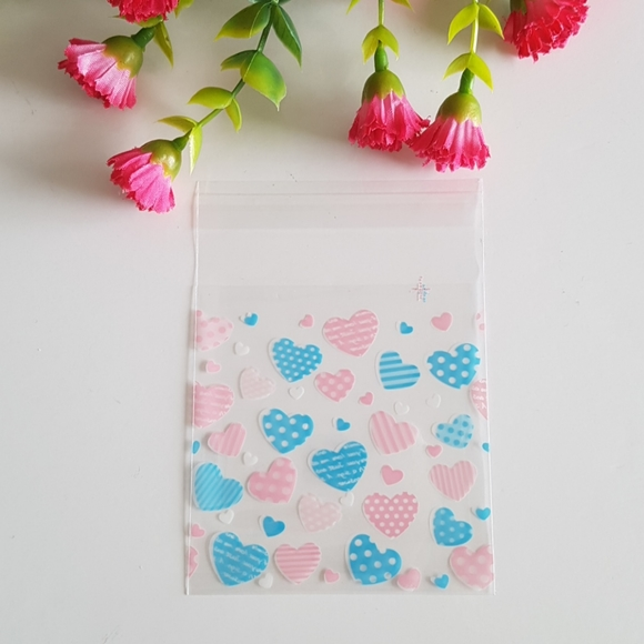 Other - NEW 45 Heart Clear Favor Bags (7cm x 7cm)